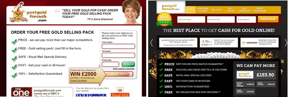 Postgoldforcash website optimisation